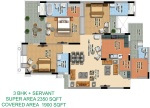 m-i-rustle-court_3bhk-with-servant-floor-plan